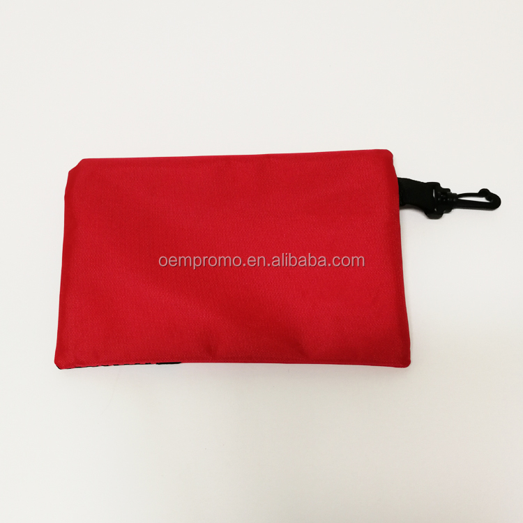 PROMO Wholesale Custom Logo Printed Polyester Nylon Zipper Pouch Bag