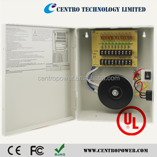 CCTV Power Supply Box 9 Channels 18 Channels CCTV Security Camera PTC Fuse led power supply