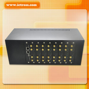 Customized IVR 32 ports GSM Gateway,32 ports GOIP Gateway Support SIP & SMS & USSD 850/900/1800/1900MhzSM Gateway