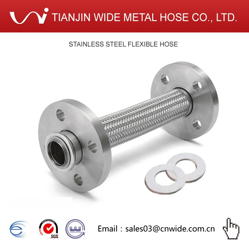 "[Tianjin Wide Hose DQ-SP-F ] 3"" inch ( DN80 ) floating head flange metal hose"