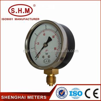 Mercury Digital Pressure Gauge Manometer With Black Steel Case