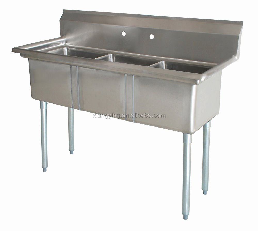 Customized Stainless Steel Three Tubs 3 Bowls Wash Sink For Commercial Kitchen Restaurant Or Hotel With Wholesale Price Buy Stainless Steel Three