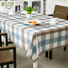 Factory Price 100% Polyester Dining Lattice Pastoral Style Home Waterproof Creative Table Cloth