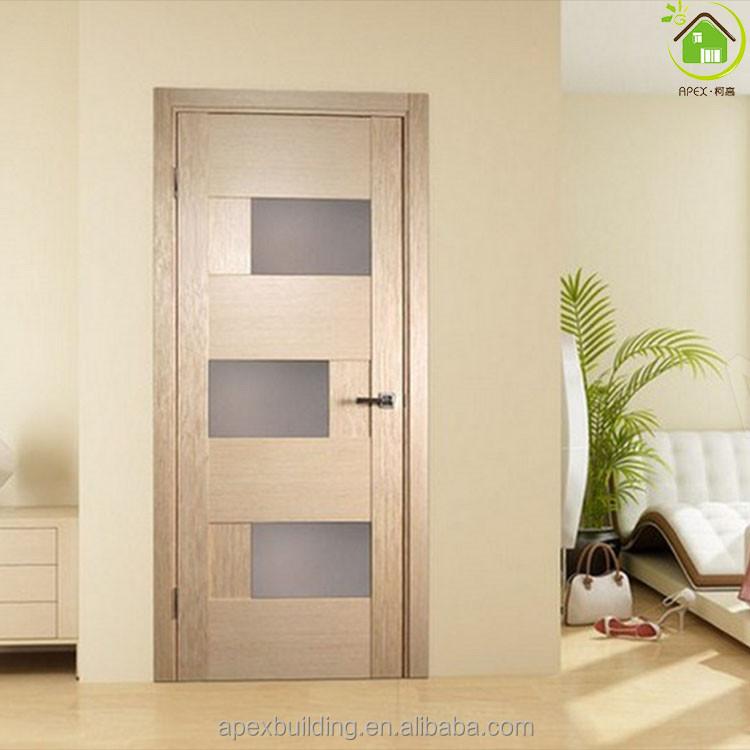 Roble blanco artesano interior puerta de cristal color de - Puertas modernas de interior ...