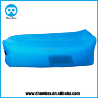 Fast Inflatable Air Sofas Camping Banana Sleeping Bag Hangout Nylon Lazy laybag Bed Chair Couch Lounger With side pocket
