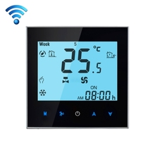 LCD Display Air Conditioning Programmable Room Thermostat Room Temperature Controller Thermometer for Fan Coil Unit