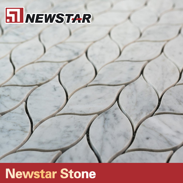 Newstar Küche Backsplash Carrara Marmor Blattform Mosaik Fliesen