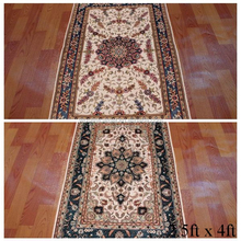 High quality hand knotted wool silk carpet rugs