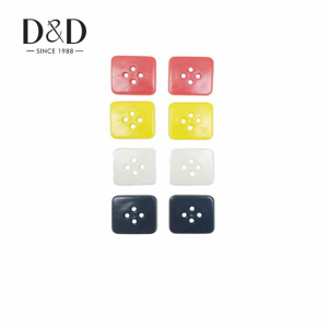 Assorted square plastic buttons mixed colors 4 holes decorative buttons