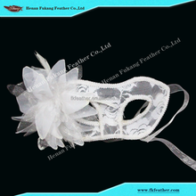 Fk Feather Factory Side Flowers Masquerade Mask For Party