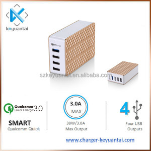 quick charge 3.0 qualcomm chip 4 USB wall charger for LG/Xiaomi/ZTE/TCL/HTC fast charger