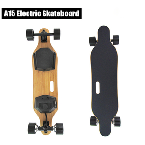 2017 China Factory electric Skate board four wheels electric skateboard with dual hub brushless motors electric board