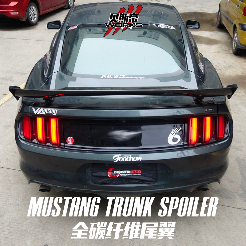 Darwinpro Carbon Fiber Apr Style Trunk Rear Spoiler Gt Wing For 2017 2016 Ford Mustang