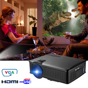 SD60 Mini Wifi Projector 1500 Lumens/1000:1/ 800*480 Support 1080P HD Multi-screen by WiFi/Miracast/DLNA/Airplay LED Projector