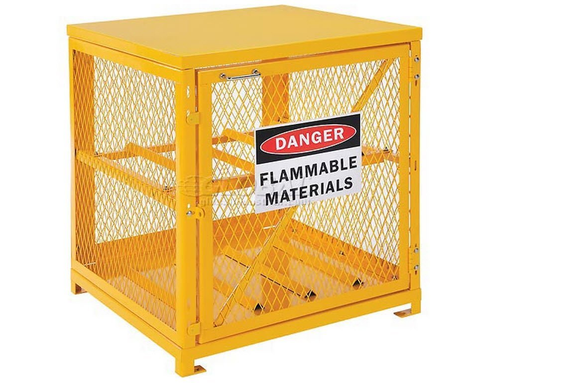 Get Quotations · Cylinder Storage Cabinet For Lp Propane Tanks   Stores  Four 20 Or 33 Lb Tanks