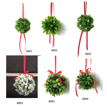 christmas artificial mistletoe kissing ball - Mistletoe Christmas