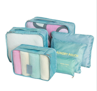 Waterproof Nylon Storage bags for cloths large zipper storage bag set Packing Cubes from China bags factory