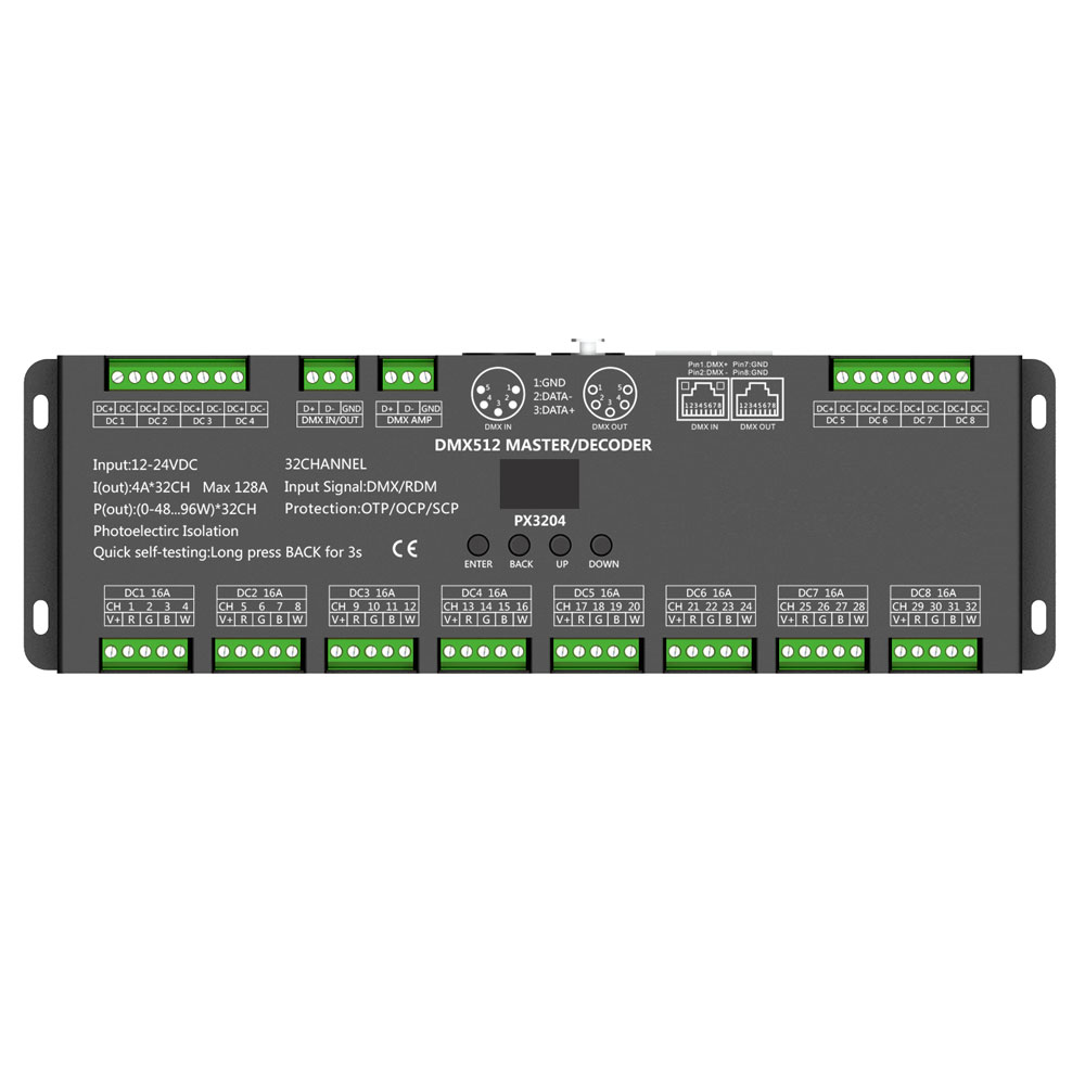 4 Amp 32 Channel Led Dmx Controller/decoder - Buy Led Rgb Dmx Decoder,32  Channel Dmx Decoder,Led Rgb Dmx Decoder Product on Alibaba com