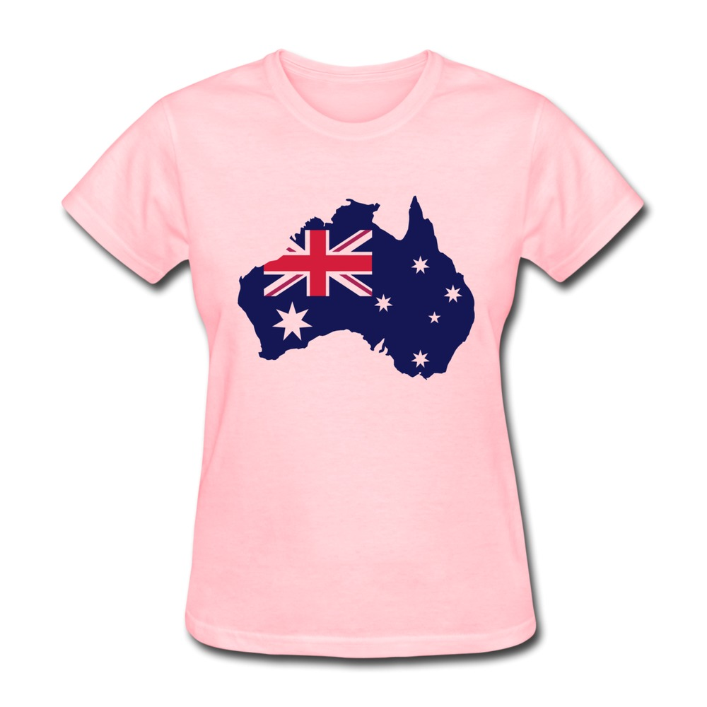 41c20c00c4c2 Get Quotations · 2015 Hot Sale Australian continent shape with the Union  Jack flag and stars Women's t-