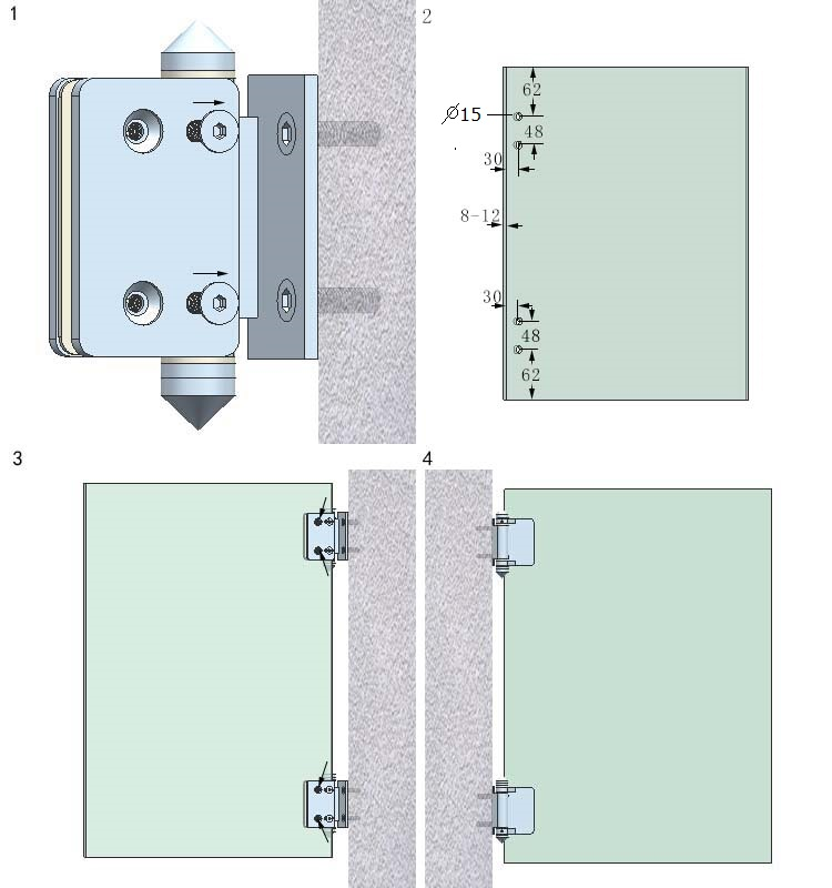 Top quality shower door hinges and hardware buy shower for Best quality door hardware