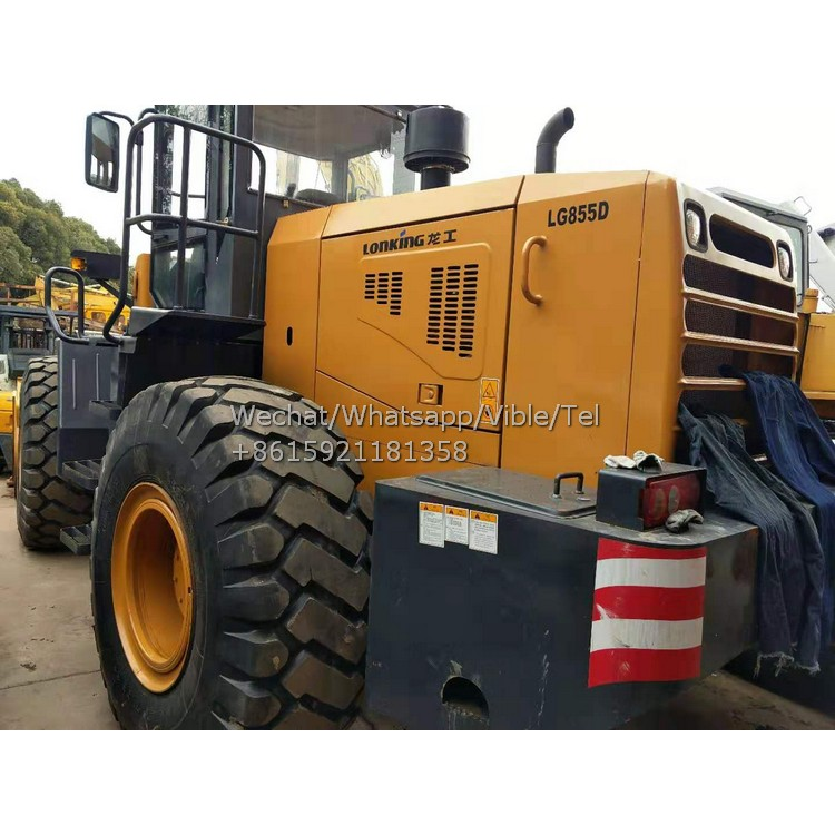 China Brand Lonking LG855D Loader, Used Lonking LG855D 5 TONS Front End Loader For Sale In Shanghai
