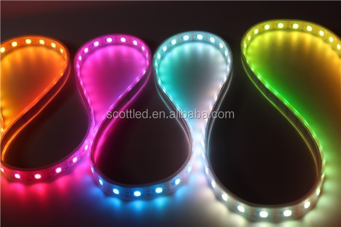 5m ws2811 50 ICs 5050 digital RGB Strip,150LED IP67 tube waterproof dream magic color 12V Led Strip,30LED/m + fast shipping
