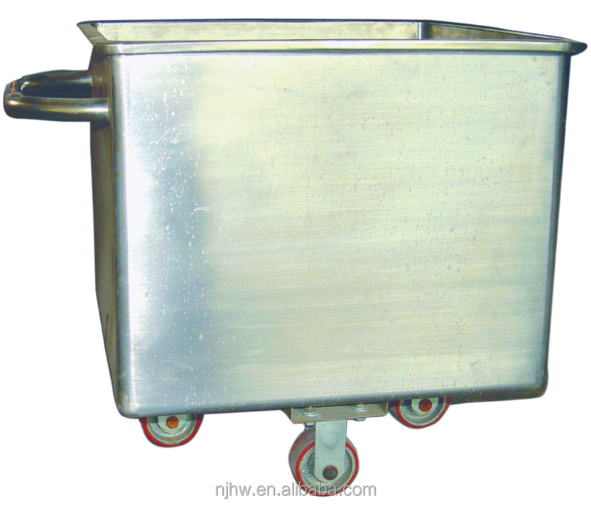 Chinese manufacturer best price retail available stainless steel meat trolley barrel for slaughterhouse abattoir