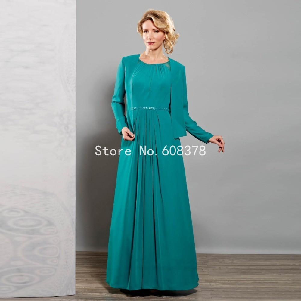 Modern Beading Long Summer Style Chiffon Mother Of The