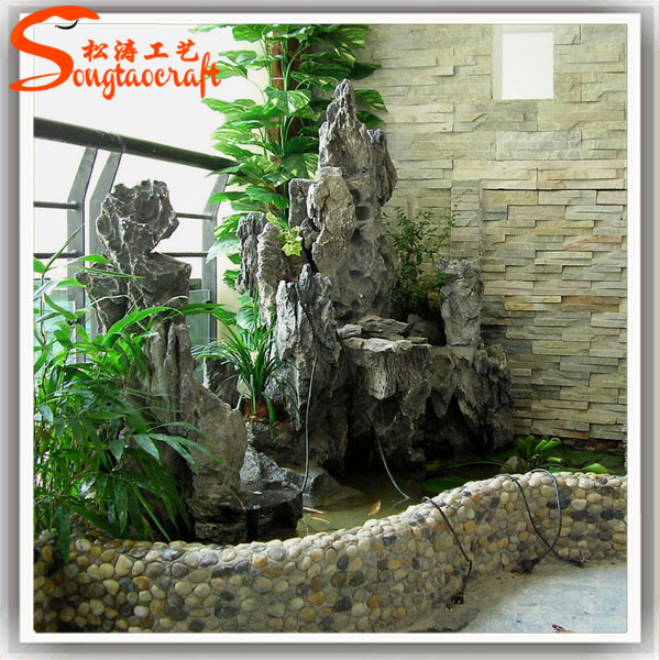 The Hotel Decorative Water Fountains Fiberglass Sculpture Indoor