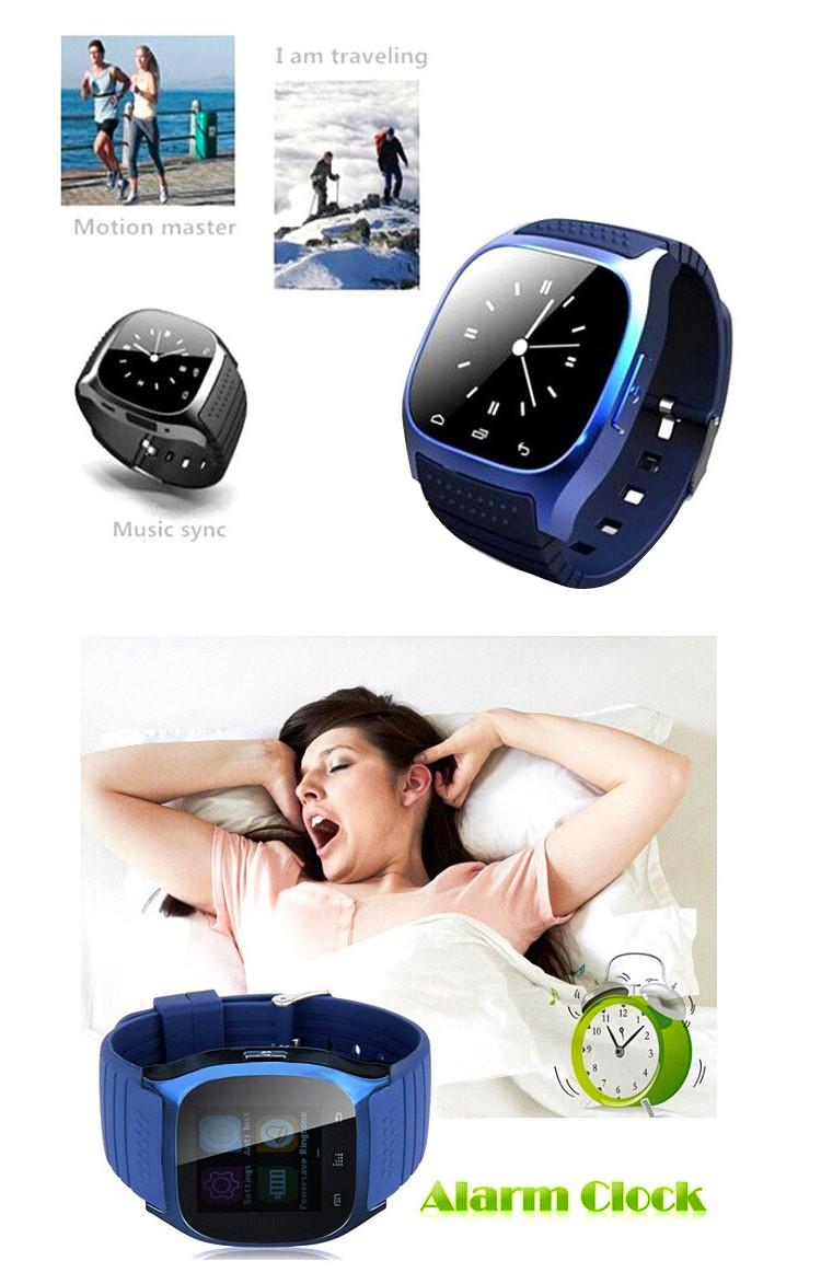 Cheap stopwatch Alarm clock pedometer smartwatch m26 smart watch