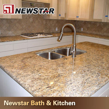 Countertop natural granito amarillo santa cecilia buy for Granito santa cecilia