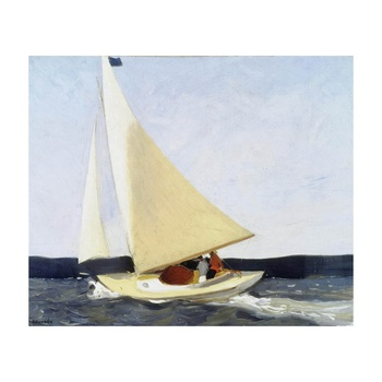 Free Shipping Edward Hopper Giclee Canvas Print Paintings Poster Reproduction Fine Art Wall Decor(Sailing)