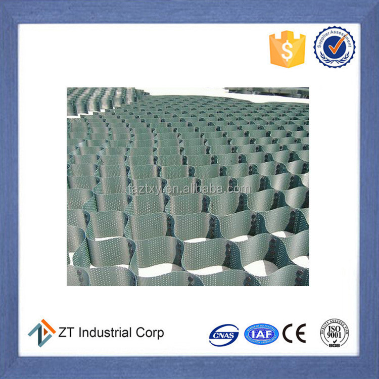 60mm low price HDPE Plastic Geocell high quality for roadHigh quality plastic gravel stabilizer/soil stabiliser geocell