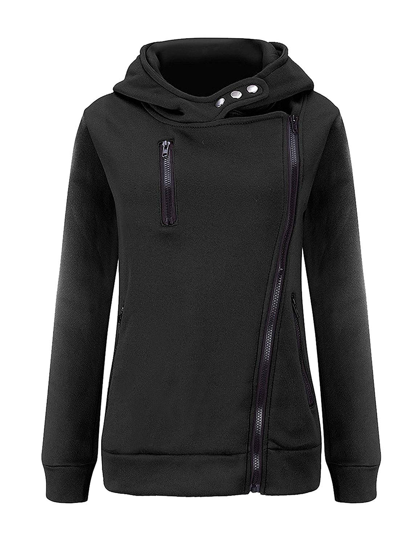Hunputa Womens Casual Heart Printed Hoodie Sweatshirt Pocket Hooded Pullover Tops Blouse