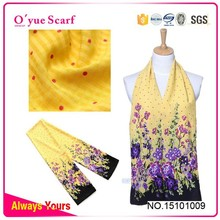Spring Polyester digital Print Small Neck Scarf hot arab hijab