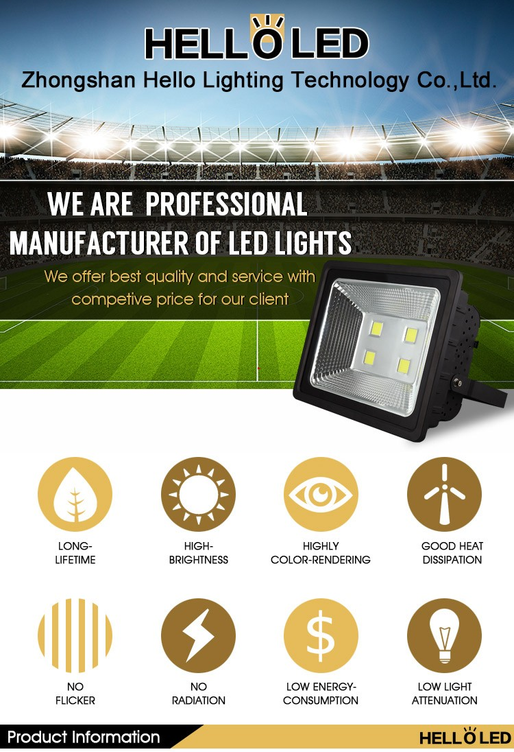 NH-23 30W Popular lighting led outdoor flood light with zhongshan factory low price