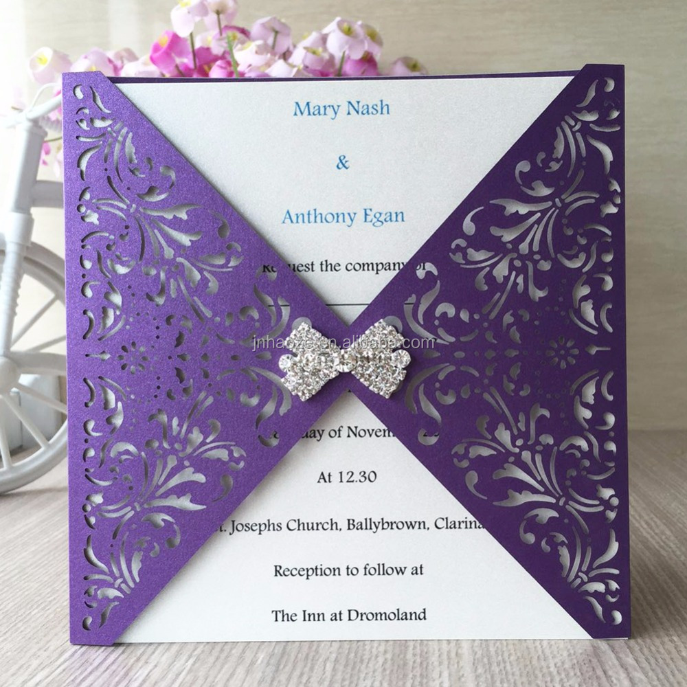 Pearl Paper Indonesia Greeting Cards Wedding Invitation Card Laser