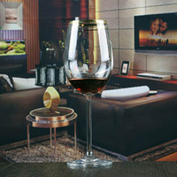 China customized silver gold plated rim goblet wine glass