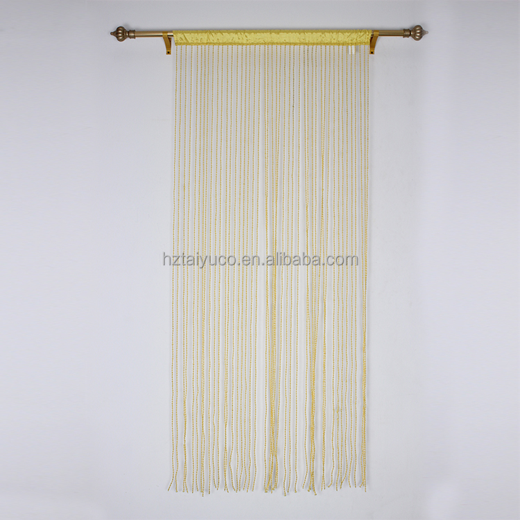 High quality bedroom polyester string curtain with thread