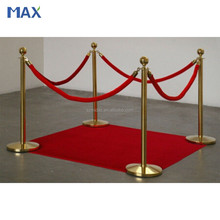 Titanium coated metal crowd control cuerda stanchion, cuerda barrera, cola del soporte