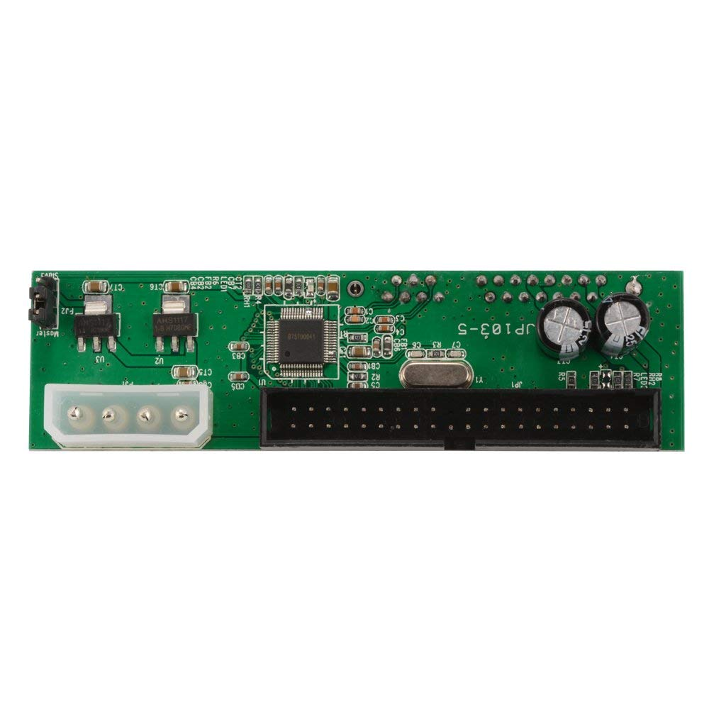 XCSOURCE PATA 40Pin IDE to SATA Card Adapter Converter Parallel to Serial ATA Adapter for 3.5 /2.5 SATA HDD DVD Hard Drive AC1072