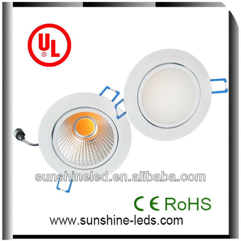 high quality Epistar cob CE RoHS SAA UL 6w 10w 15w 20w 25w 30w super bright led downlight 15w