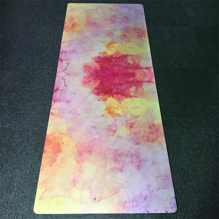 Custom Colorful Dye sublimation Fabric Color Changing Rubber Yoga Mats