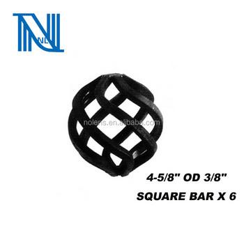 "Besi Tempa Keranjang 4 5 8 ""od 3 8"" Square Bar X 6 desain pagar"