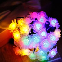 2017 New design battery operated rose flower led string light of China