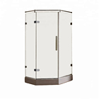 Showerroom Small Fiberglass Shower Stall & Glass Panels And Acrylic Base Floor Chrome Shower Box