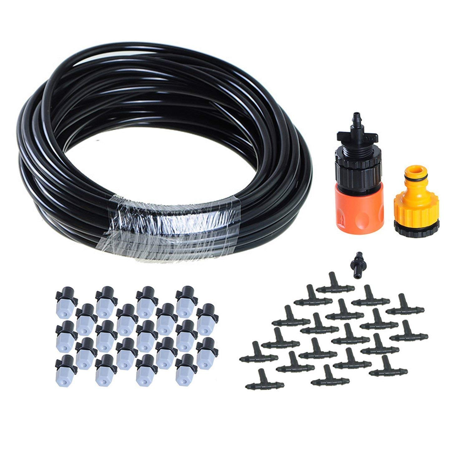 Get Quotations · ZivaTech DIY 32FT 20 Nozzles Misting System Kit For Outdoor Patio Garden Greenhouse Reptile Mosquito Prevent