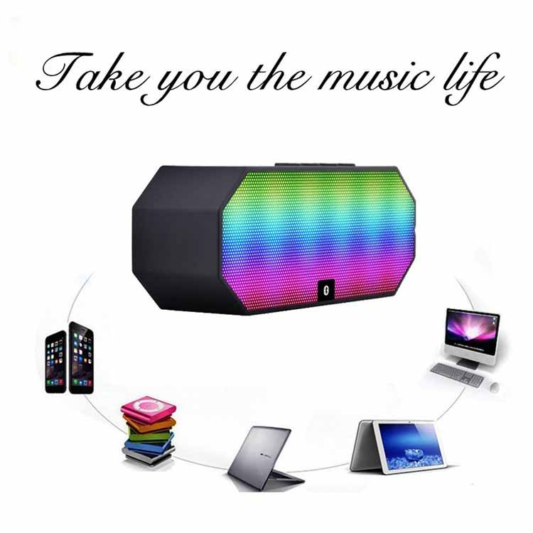 Shenzhen Factory OEM E925 Portable LED Light Voice Active Bluetooth cube speaker