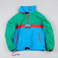 custom half zip water proof mens windbreaker jackets