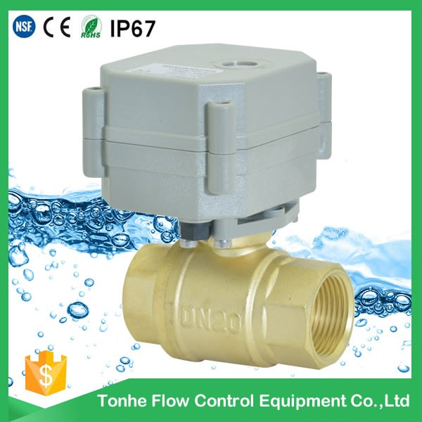2016 DN20 automatic <strong>water</strong> shut off valve motorized ball valve